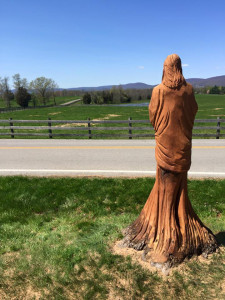 Tom's Creek -- tree carving 2